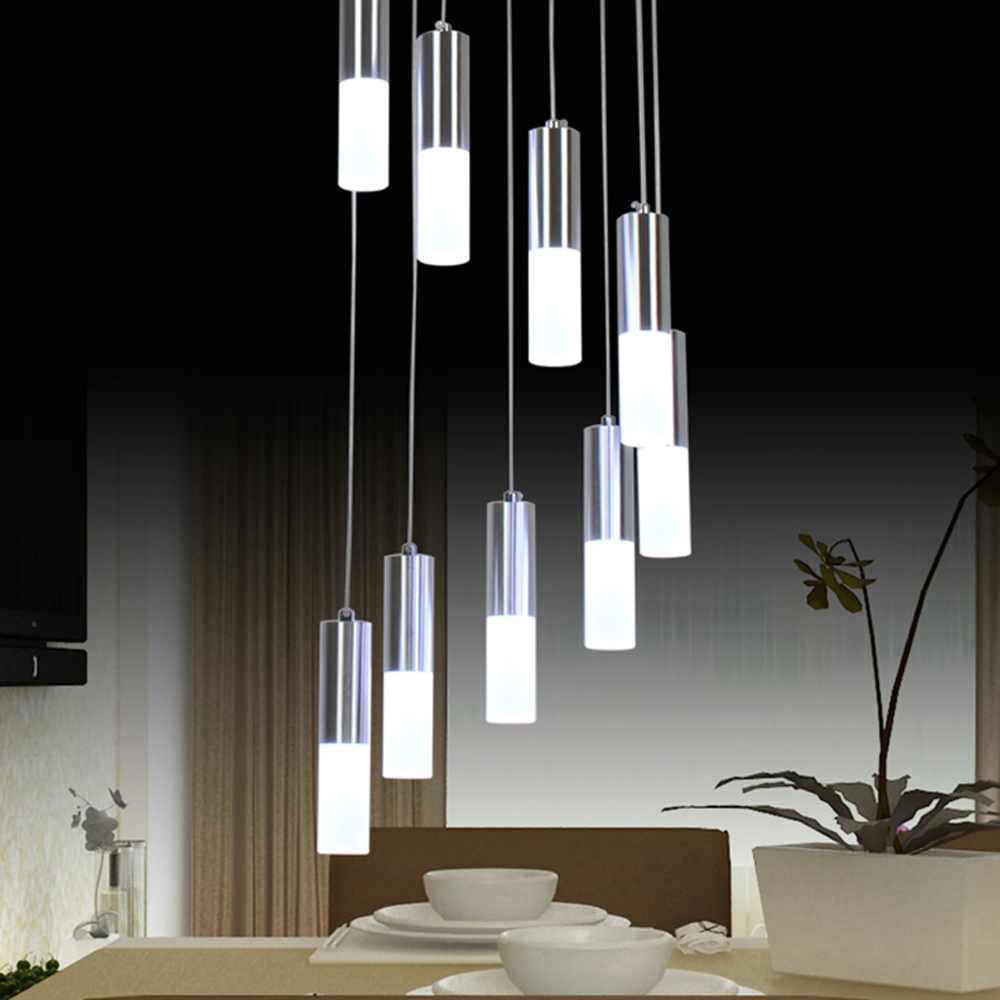 Cylinder Shape Long Chandeliers For