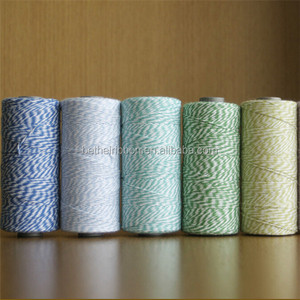 China Wholesale colored twisted cotton rope twine spool