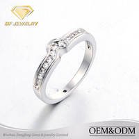 micro pave cz setting jewelry 14k gold wedding rings