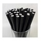Factory direct supply hot sale disposable biodegradable 12mm paper drinking straws black
