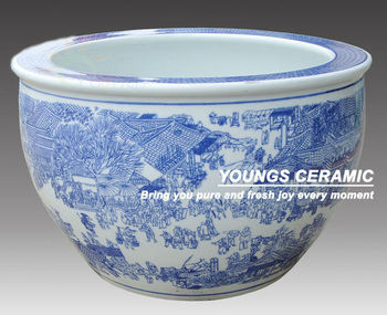Whole Chinese Blue White Ceramic Planters Pots For Indoor And Outdoor