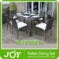 Outdoor Patio Wicker Furniture New Resin 7 pc Square Dining Table & Chair Set