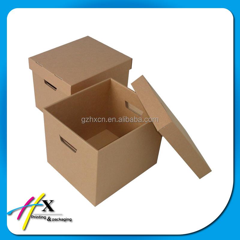 Die Cut Handle Plain Cardboard Box With Lid Buy Plain