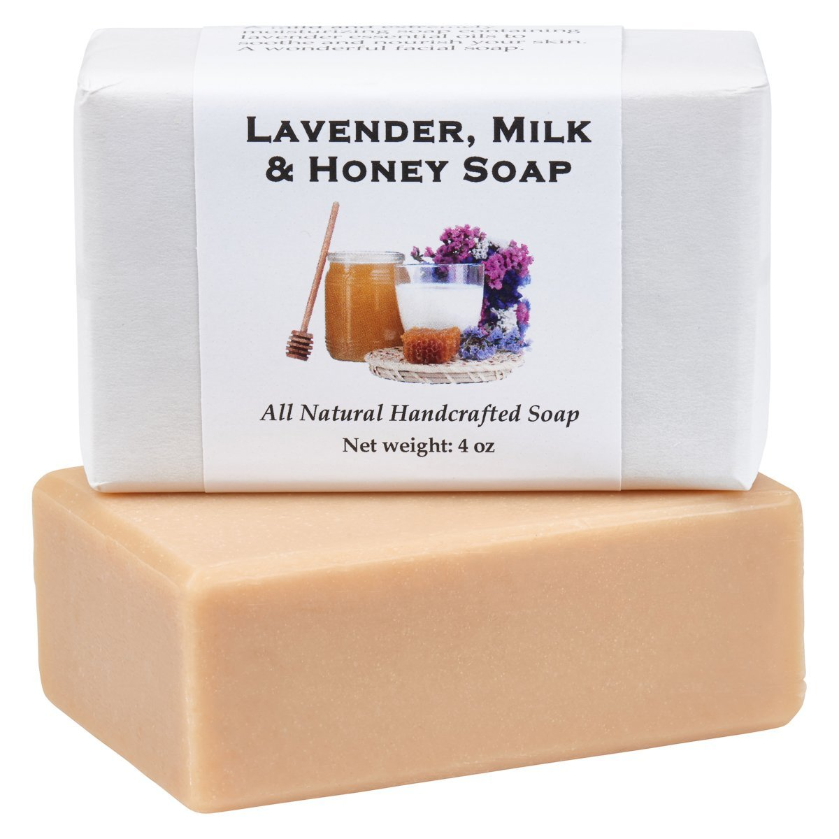 Lavender Milk and Honey Soap by MoonDance Soaps - Handmade Soap with Goat Milk and Lavender Essential Oil
