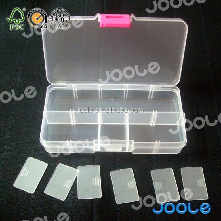 10 small boxes clear plastic box for earring pin storage
