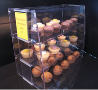Clear Plastic Acrylic Cabinet Case Shelves Cake Food Delicatessen Display