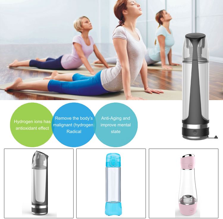 Malaysia Hot Sale CB 500Ml Hydrogen Water Bottle Portable Hydrogen Water Generator