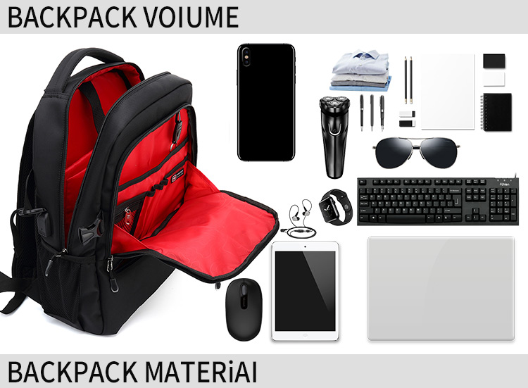 Manufacturer custom 2020 new USB charging anti-theft bag Oxford cloth waterproof backpack