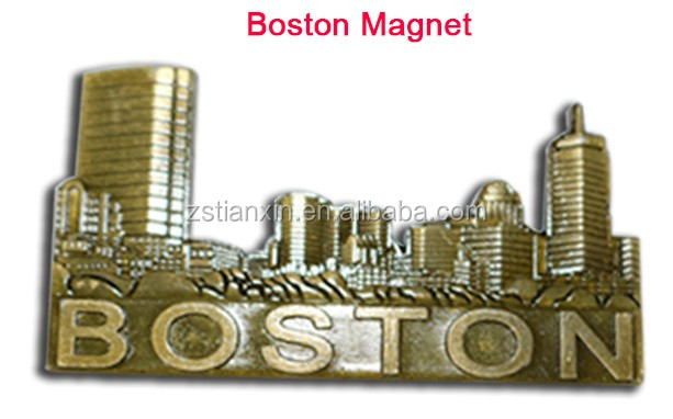 New Usa 3d Boston Tourist Souvenir Gift Metal Fridge Magnet - Buy ...