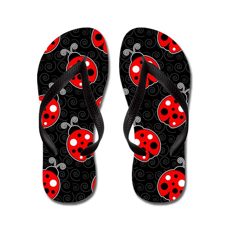 8c82c6495a37 Get Quotations · CafePress Ladybug Flip Flops Flip Flops (Red Black) - Flip  Flops