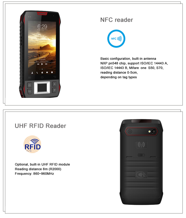 portable bluetooth android hf rfid reader with sdk/demo,NFC reader,WIFI,4G LTE ,gps