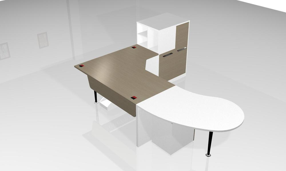 Moderne de table de bureau des enseignants moderne verre bureau