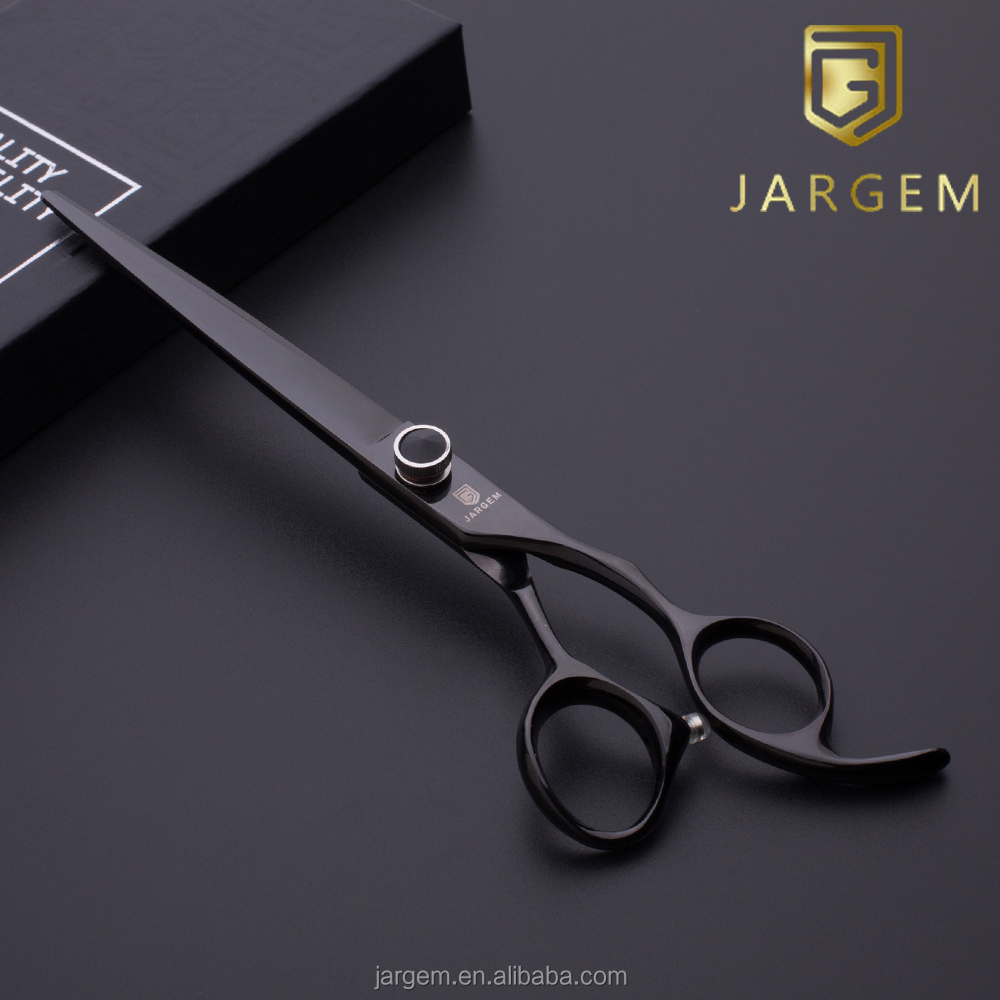 Black coated super cut barber scissors hair scissors professional hair tools hand made sharp hair tools