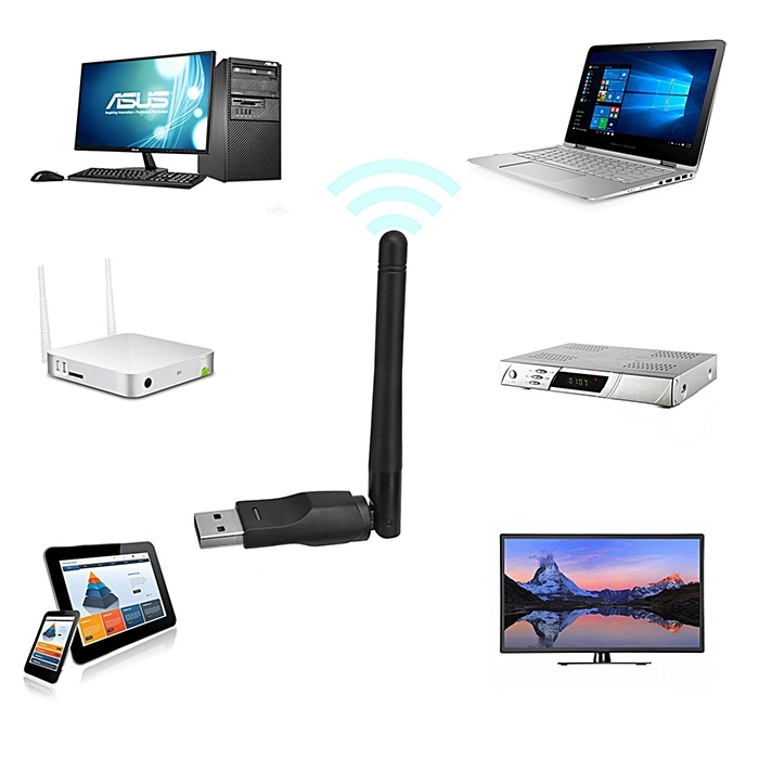 Wireless wifi Usb Adapter 2dBi Antenna Ralink Rt5370 chipset usb wifi dongle for MAG 250 set top box