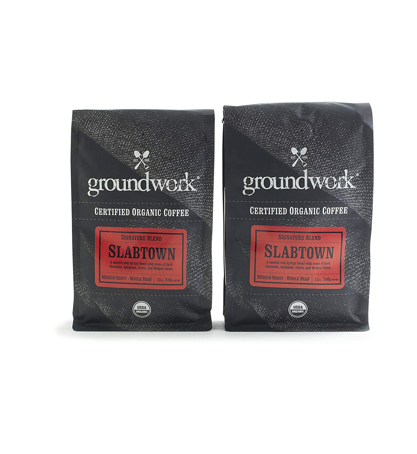 Groundwork Slabtown Organic Coffee (12oz) 2-Pack