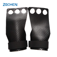 Wholesale wearable 3 holes carbon fiber leather gymnastics hand grips