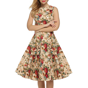 B12575A Sexy Lady Vintage Dress Retro Vintage Swing Rockabilly Pinup Party Prom wrapped floral Dress