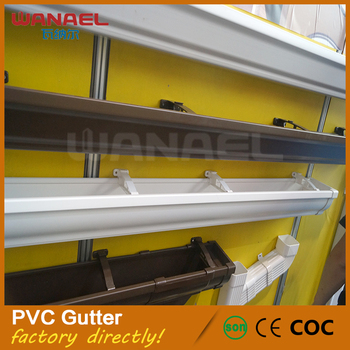 Hot Selling K Style Pvc Rain Water Carrying Gutter System
