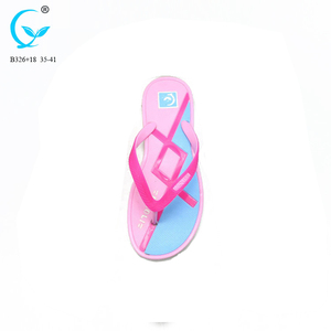 2018 women plastic shoes indoor chappal flip flop new design eva wedge sandals