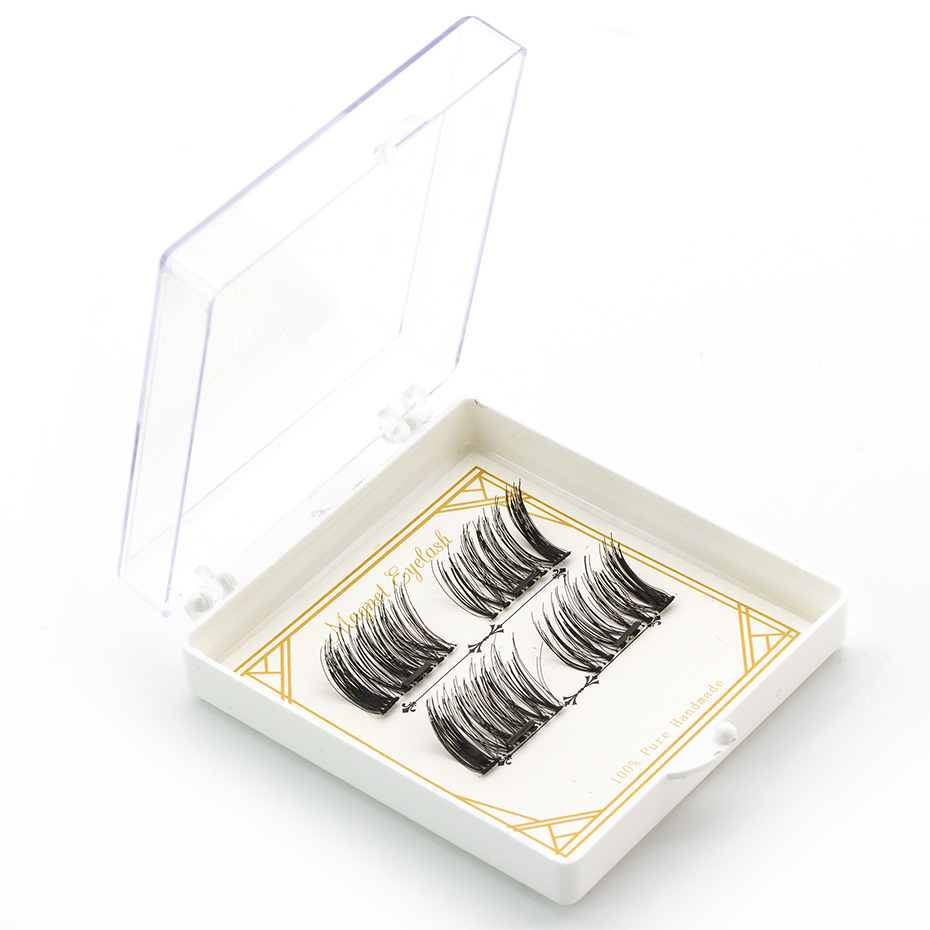 2017 Hotsale automatic reusable 4pcs silk false magnetic lashes without eyelash glue CT15-02