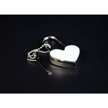 Customized Sublimation Blank Metal Heart Shaped Key Lock