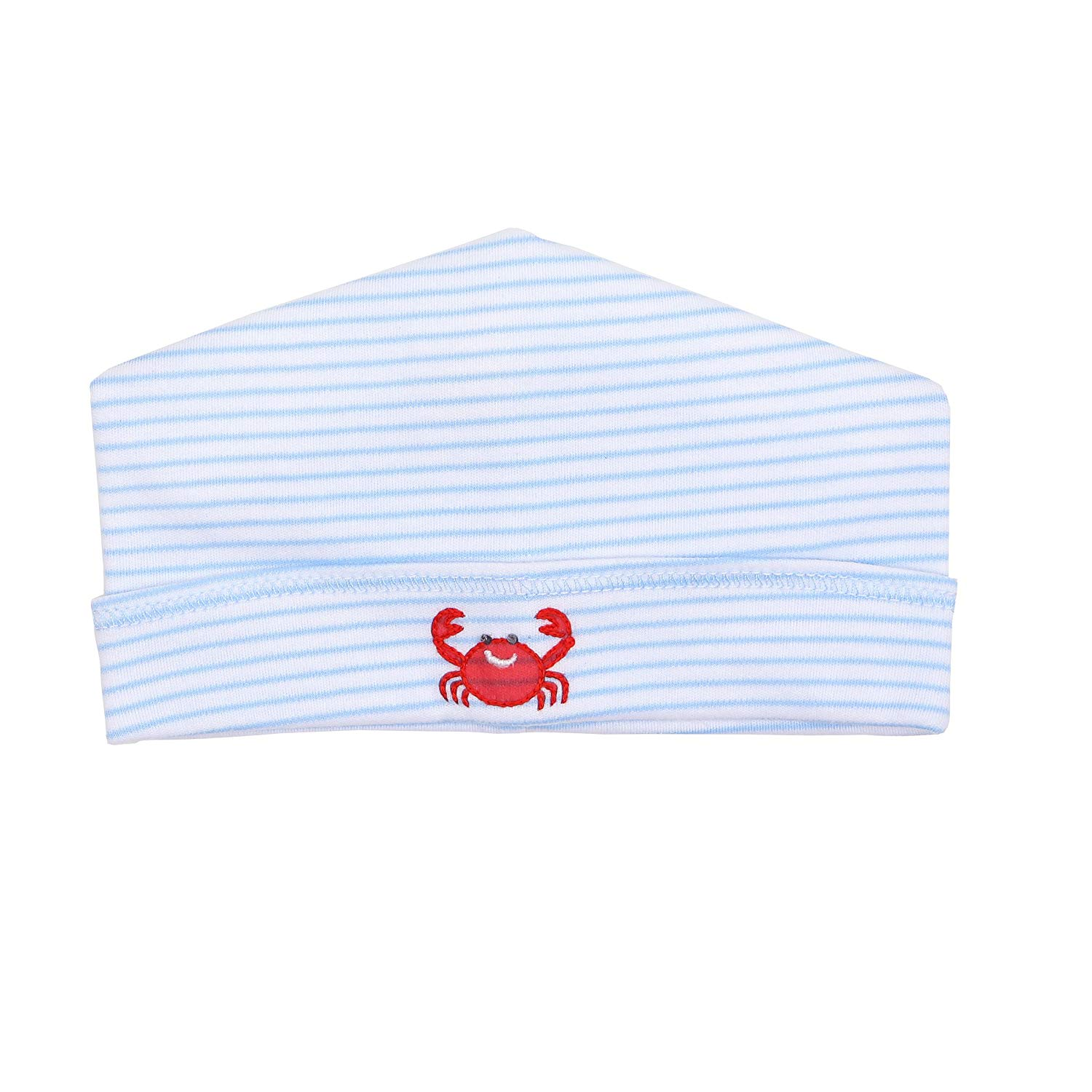 7ee7a7c6134 Get Quotations · Magnolia Baby Baby Boy Classic Crab Embroidered Hat Blue