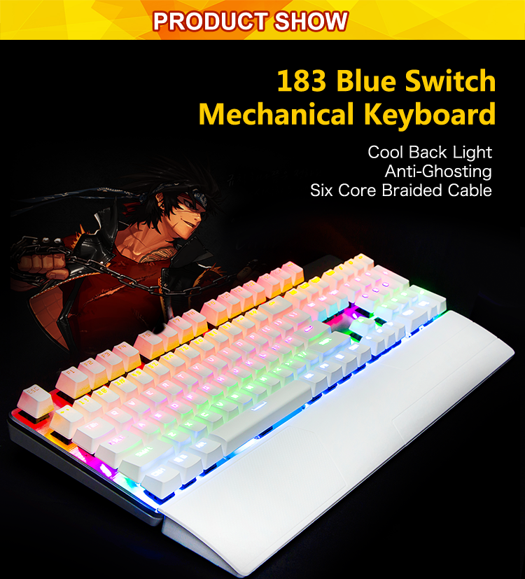 All Keys No Conflict Mechanical Keyboard For Computer With Clicking Sound  Cool Feeling - Buy Computer Gaming Mechanical Keyboard,Led Back Light