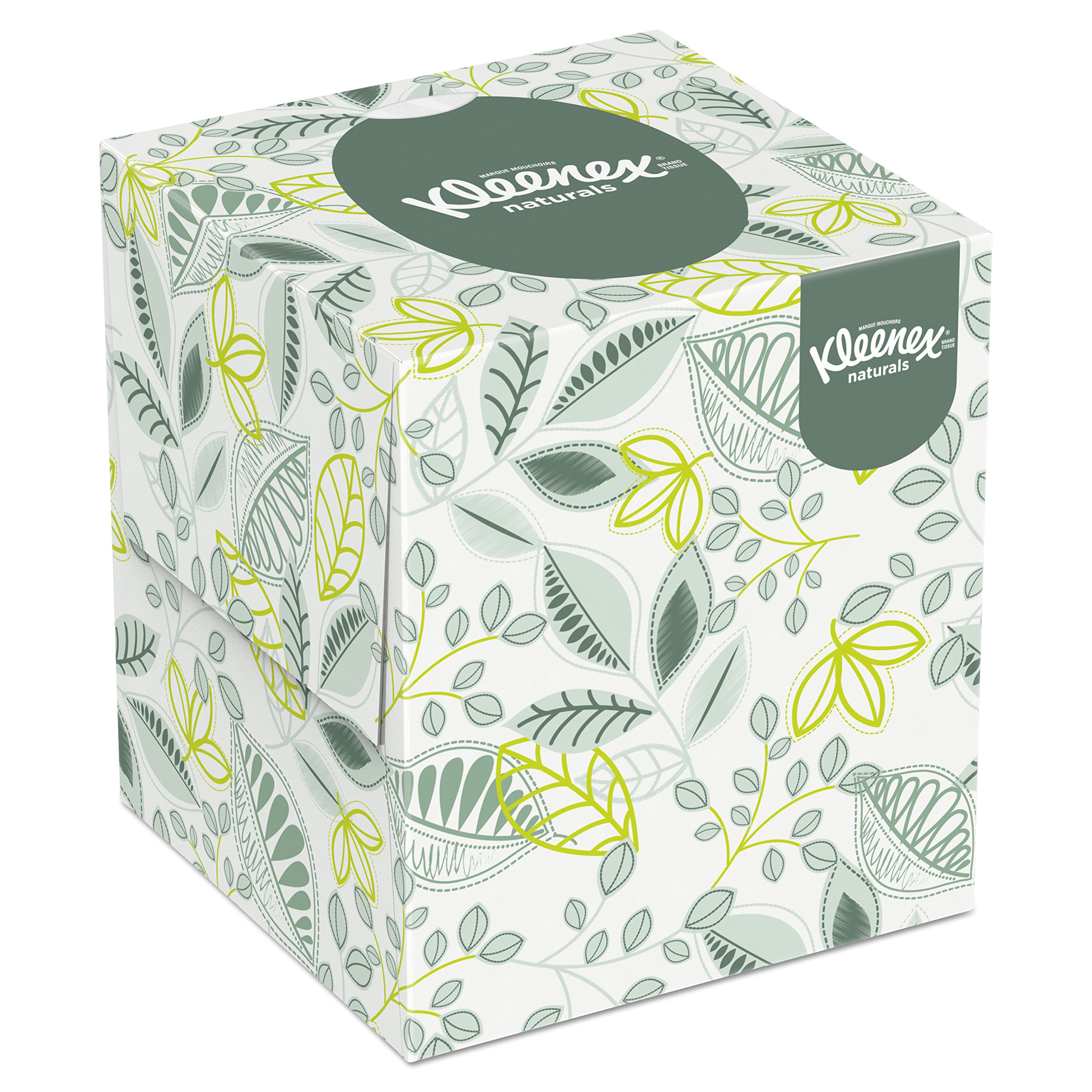 Kleenex Professional Naturals Boutique Facial Tissue Cube for Business (21272), Upright Face Tissue Box, 2-PLY, 6 Bundles/Case, 6 Boxes/Bundle, 36 Boxes/Case