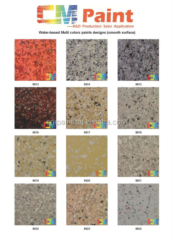 Multi Colors Marble Textured Granite Spray Paint For Exterior Concrete  Waterproof Coating Part 46