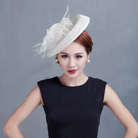 High quality ladies sinamay fascinator hats