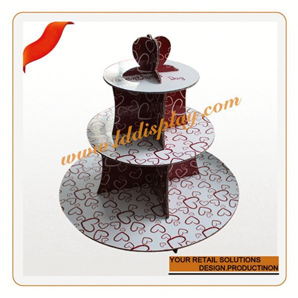 Customized acrylic sweet display stand glazed porcelain cake plate