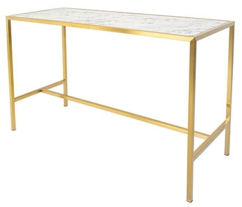 Classic Gold Plating Marble Top Wedding Bar Table