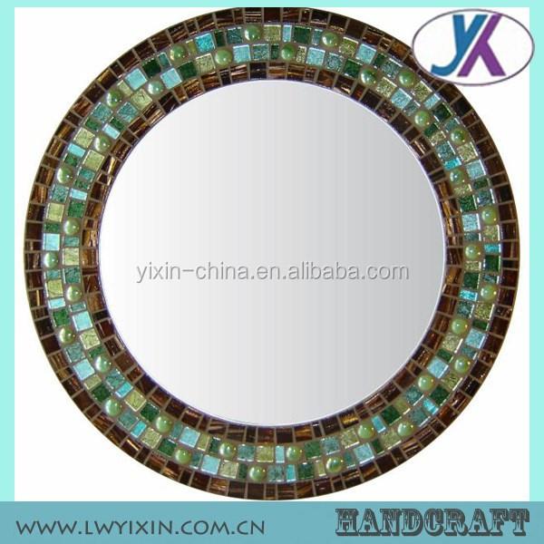 Marco negro mosaico de vidrio ikea ronda espejo de la pared ...