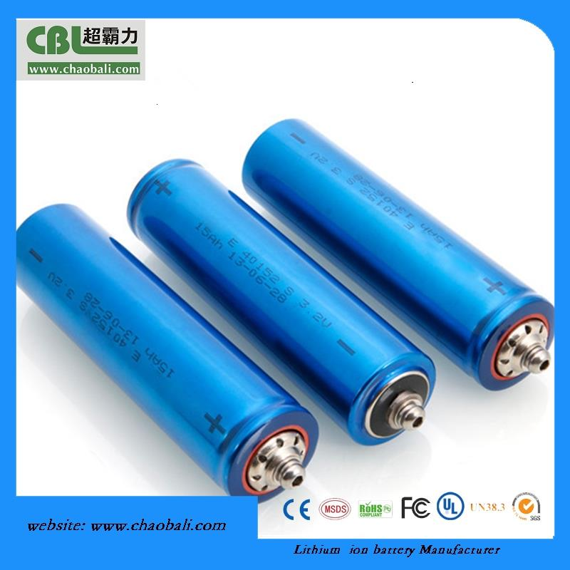 High C-rate cylindrical lithium battery LiFePO4 Battery Cells 40152 15AH 3.2V ev battery