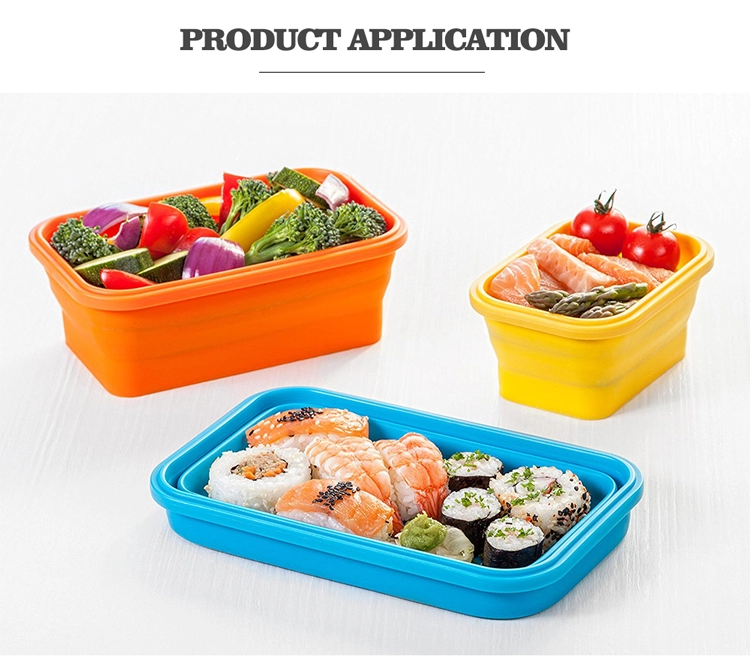 Kids food warmer 3 compartment collapsible lunch box
