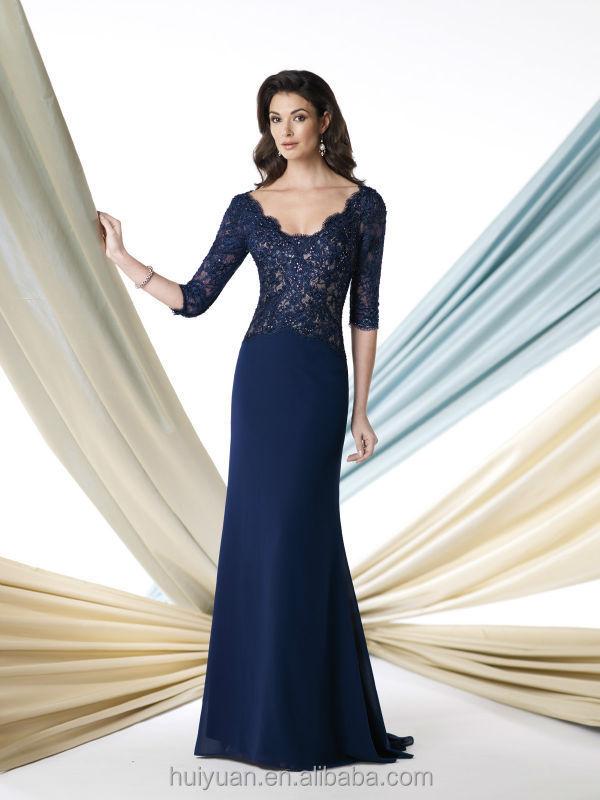 Long Sleeve Designs Lace Short Evening Dress Black White