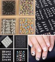 50 Folhas Prego 3D Art Stickers Decal Dicas Flor Moda Decoração Dica Varas Nail Art Manicure Acessórios