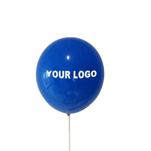 Factory Promotion Price Latex Company White Slogan Logo Print Balloon for Promotion
