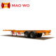 Heavy duty 3 axle tractor truck 20ft 40ft flatbed container trailer