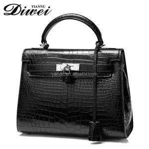 Modern crocodile genuine leather ladies briefcase for iphone