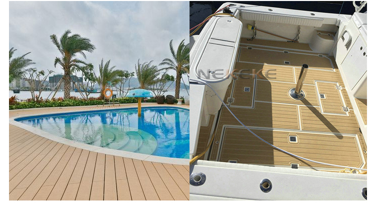 25 Meter Roll Marine Boat Yacht Synthetic Teak Deck Plank 200mm Without Caulking
