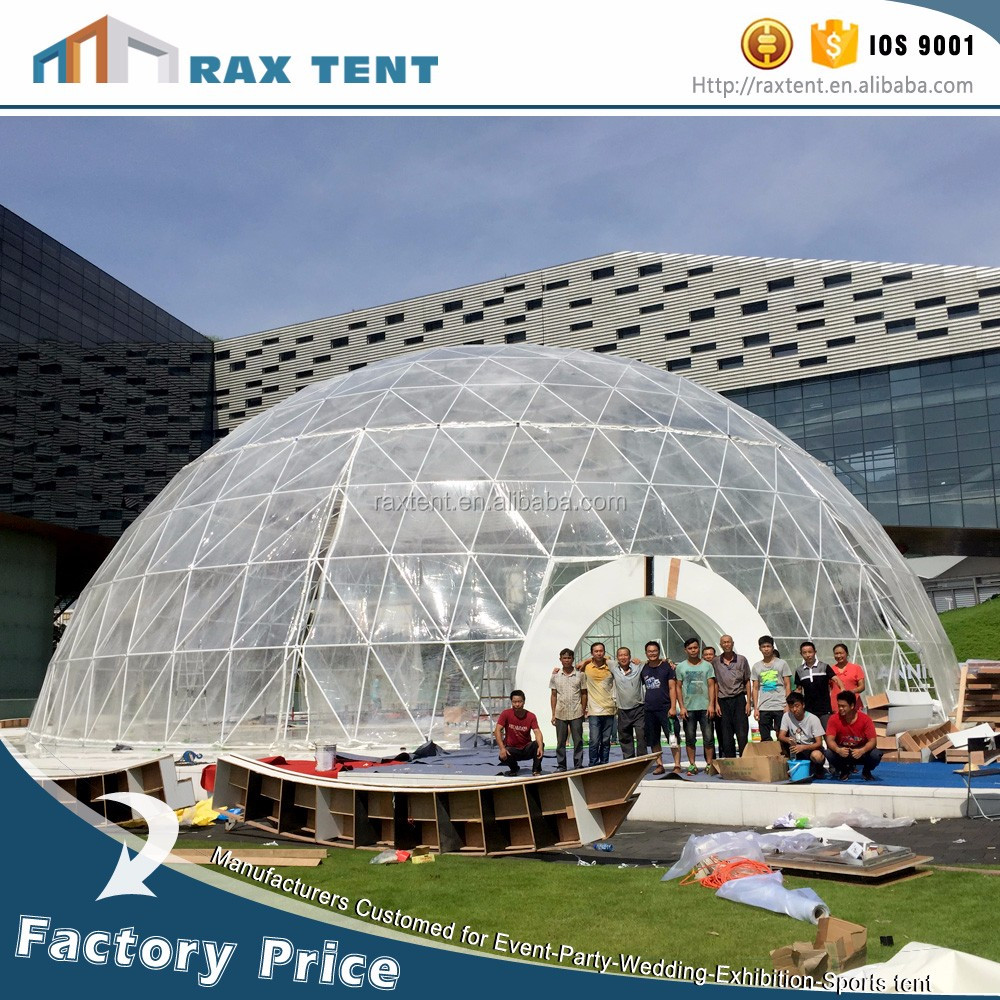 Prefab Dome Homes: 30m Expo Dome Tent Prefab Geodesic Dome House Glass Tent