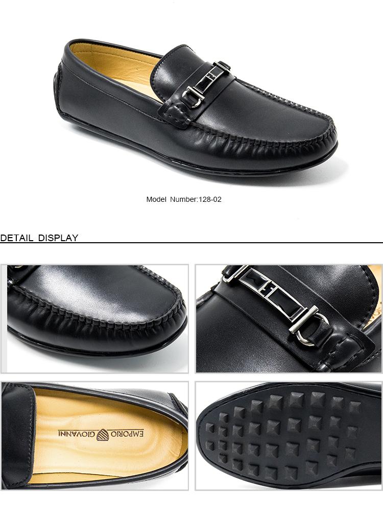 Guangzhou Chaussures D'été Pour Hommes Mocassins En Cuir Semelle Extérieure En Caoutchouc Avec Prix 128 02 Buy Chaussures D'été Pour