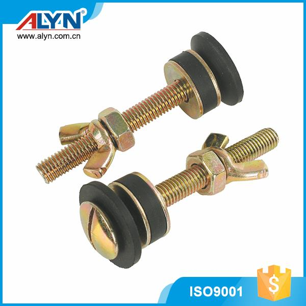 High quality OEM copper plated iron tank toilet couple bolt