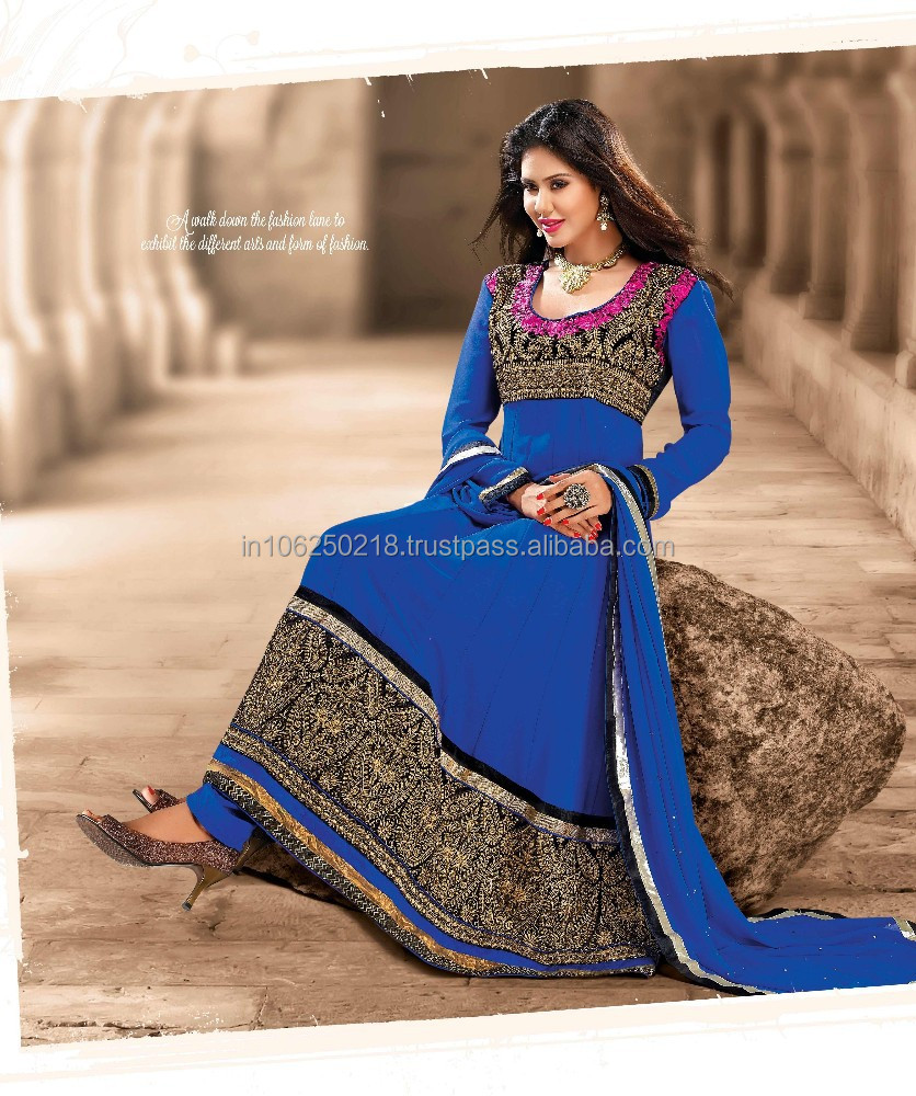 Pakistani Long Kameez Suit Simpal Design Pakistani Full Length ...