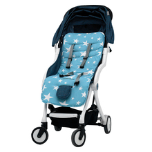 Kostenloser Versand Star Print-Design Baumwolle <span class=keywords><strong>Baby</strong></span> <span class=keywords><strong>Kinderwagen</strong></span> Sitz Pad