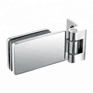 glass patch fitting Stainless Steel Frameless Tempered Curved Glass Door Shower Hinge