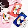 Embroidery Rainbow Imitation Leather Mobile Phone Case for iPhone 7/7 Plus