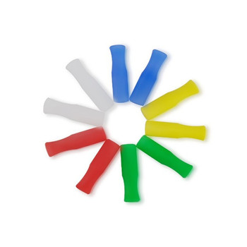 Oempromo multicolored 6mm 8mm food grade silicone straw tips