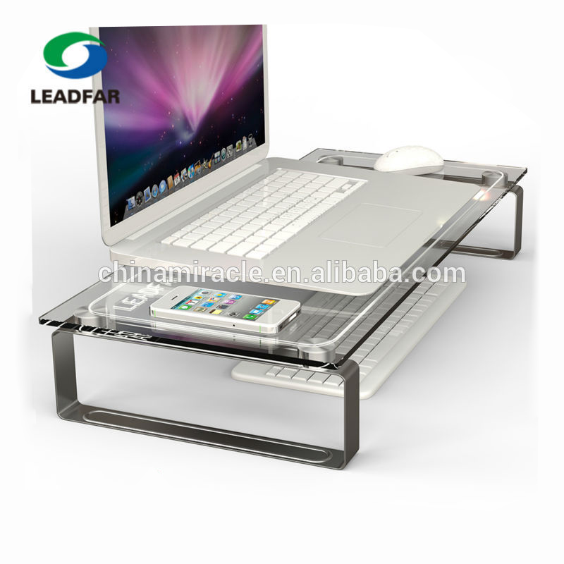 Crystal Glass Desktop Perspex Laptop Computer Stand Buy Glass